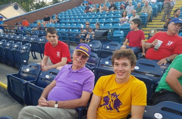 Grandfather, grandson and Isaiah, the ultimate Tourists fan