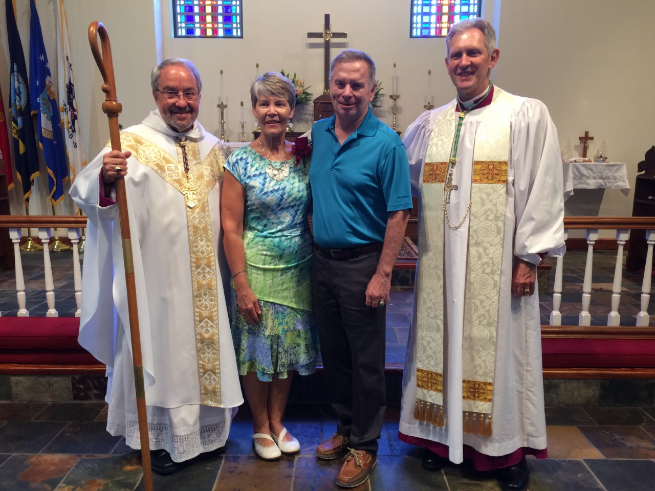 Bp. Grundorf, Confirmand Jennifer Breitenbach, her husband Barry, Bp. Haines
