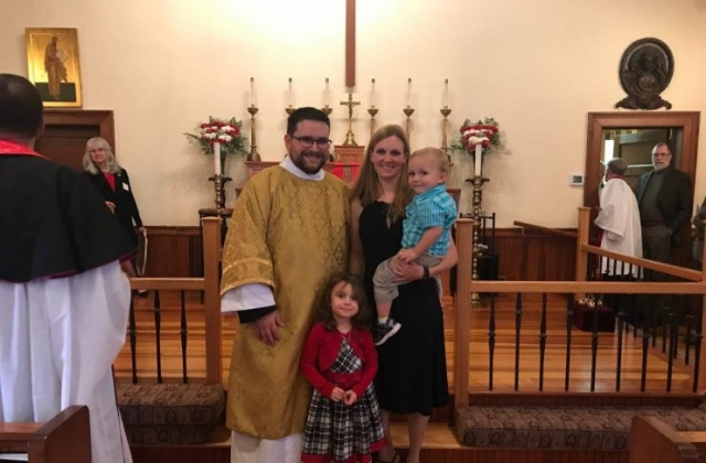 Deacon Miller, his wife Jennifer, Abigail & Joshua